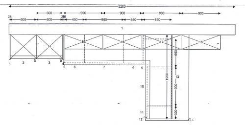 Einbauküche maße  Leicht Einbauküche Modell Pinta / Orlando L-Form, mit Essplatz und ...